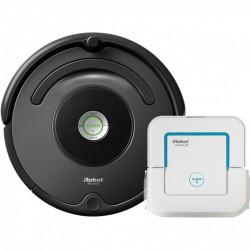 Set iRobot Roomba 676 + Braava Jet 240 robotický vysavač + mop